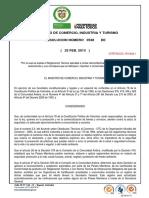 Resolucion 0538 de 2013