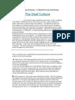 Medical Surgical Nursing Cultural Diversity and Nrusing
