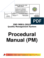 Procedure Manual for Qms.