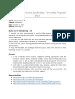 internship 3 proposal