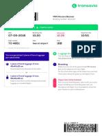 Transavia Boardingpass Roxana Besnea TO4651 07-09-2018