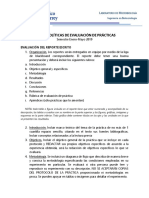 Políticas de evaluación de prácticas