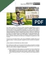 Manual para redactar una crítica-reseña en Goodreads