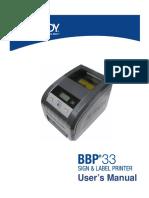 BBP33 Printer User Manual US