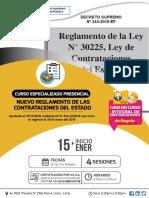CURSO PRESENCIAL NUEVA LEY DE CONTRATACIONES DEL ESTADO - ENERO 2019