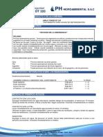 Ficha de Datos de Seguridad -Arka 187 ICT