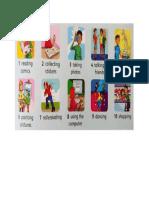 Vocabulario Inglés Cuarto Primaria T5