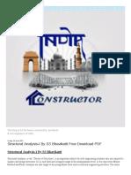 PDF Book Search Com PDF Structural Analysis 2 by Bhavikatti PDF Free Download HTML