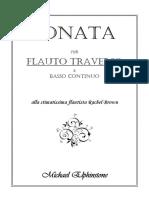 Elphinstone, Michael - Sonata Per Flauto Traverso e Basso Continuo (Flute)