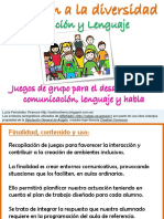 juegos en grupo para el desarrollo del lenguaje oral
