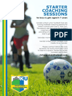KU Starter Sessions A5 Flyer (Side 1)