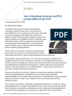 ConJur - Aplicação Do Valor Tributável Mínimo Do IPI é Validada Pelo Carf