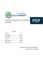 Project for Online Examination System