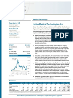 Helius Medical (HSDT) Report By Sellside Analyst Sean Lavin from BTIG