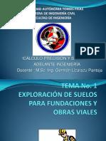 Tema No.1-Exploración de Suelos Para Fundaciones y Obras Viales
