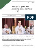 As Razões Pelas Quais Não Podemos Assistir à Missa de Paulo VI _ FSSPX.news _ FSSPX.news