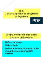 (6.6) Classic Applications of Systems of Equations
