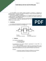 Chapitre n 3 Le Transformateur Monophase