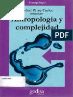 Antropologia y Complejidad - Rafael Pérez Taylo