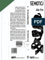 KRISTEVA Julia - Semiotica I