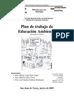 Plan de Trabajo de Educacion Ambiental