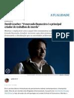 """David Graeber_ """"O Mercado Financeiro é o Principal Criador de Trabalhos de Merda"""" _ Atualidade _ EL PAÍS Brasil"""