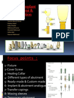 Different Implant Component & Their Function