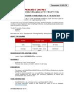 Ielts Exam Practice Course Information Sheet
