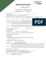 Ficha de Registro 8 C