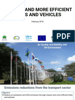 UN Environment- Cleaner Fuels and More Efficient Fuels and Vehicles