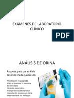 Exámenes de Laboratorio Clínico