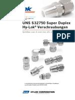 Catalogo H 200TF SD D Conectores Hy Lok
