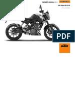 KTM Duke 200 2016 Operator Manual