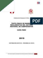 TEXTO UNICO DE BASES Y REGLAMENTOS DEL SISTEMA NACIONAL DE CAMPEONATOS |