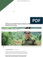 Arakan Army Chief Promises Myanmar Military, Govt Eye for an Eye -  Interview with Arakan Army - Major General Twan Mrat Naing