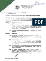 Bureau of Customs CAO 01-2019 Post Clearance Audit and Prior Disclosure Program