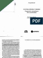 Simmel Cultura Liquida y Dinero PDF