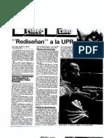 Estrada - Rediseñan a la UPR
