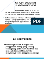Chapter 2. Audit Energi and Dsd