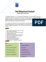 Certified Behavioral Analyst
