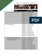 Jadwal Pelatihan Restoran_2019