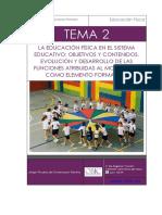 Tema 2 La EF en El Sistema Educativo