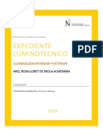 1. Memoria Descriptiva Expediente Luminotecnico