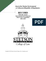 Stetson 2010-11, Moot Problem