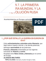 La Primera Guerra Mundial y La Revolución Rusa