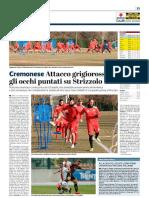 La Provincia Di Cremona 17-01-2019 - Cremonese