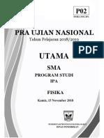 7. Soal Pra Un Fisika 2019 (Paket 2)