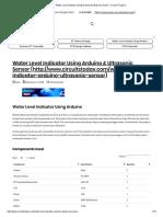 Water Level Indicator Using Arduino & Ultrasonic Sensor- Circuit, Program