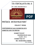 Physics Investigatory Project 1