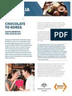 Korea America free Trade Agreement and Chocolate